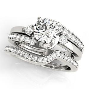 Diamond Bridal Set Total Side Stones Weight 1 12 Ctw