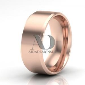 Plain Platinum And Gold Wedding Rings Plain Wedding Rings Aida
