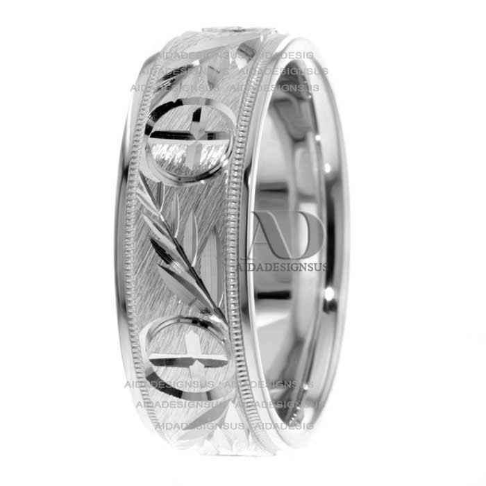 Two Tone Religious Wedding Bands